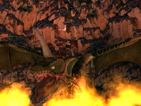 森のボスのドラゴン
